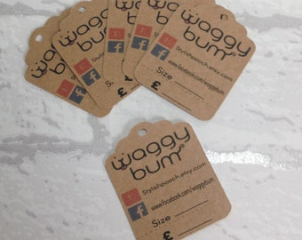 Personalised Price Tags, Perforated Hang Tags, Kraft Price Tags, Perforated Price Tags, Custom Packaging, Personalised Luggage Tags.