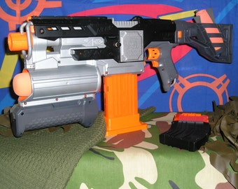 Nerf Demolisher Modified (Basher Supersonic motors and Re-Wire)