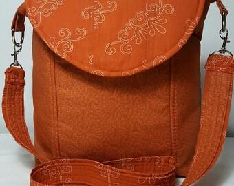 Machine washable, Bright color, bag and purse, handbags, Handbags Orange-Rust color, crossbody Lightweight bag