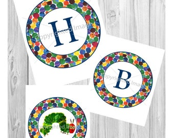 The Very Hungry Caterpillar Birthday Party Banner Digital File Printable Boy Girl