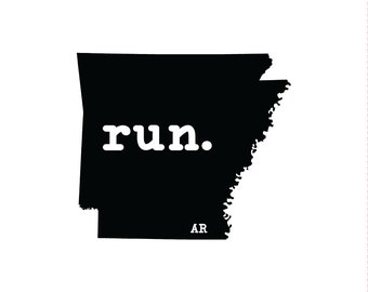 Run AR State Outline Magnet