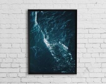 Ocean print, Ocean photography, Ocean wave, Sea poster, Water print, Coastal wall art, Wave print, Wave photography,Printable Art