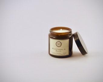 Amber Jar Eco soya scented candle - Blackberry & Basil  120 ml