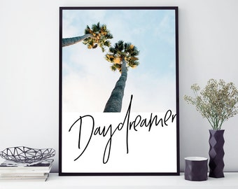 DAYDREAMER photography typography wall art print