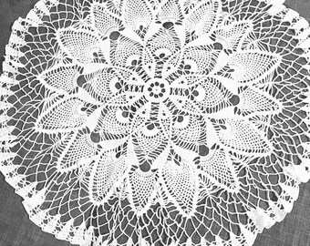 All cotton hand crocheted doily