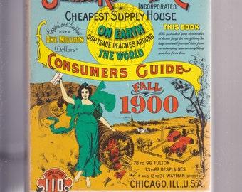 Sears Roebuck 1900 Reprint Catalog 5 x 7 1970 Paperback