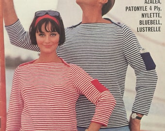 Vintage Patons Knitting Pattern Book no.747, Casuals and Classics for Men and Women