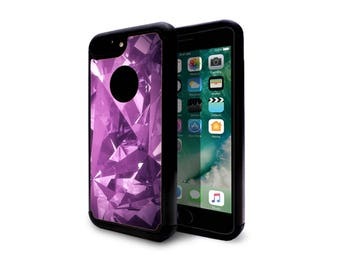 iphone 7 case heavy duty case back cover for apple iphone 7 iphone 7 plus purple diamond