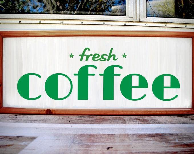 Art Deco Custom Light Box Fresh Coffee Sign