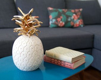 Pineapple ceramic gold