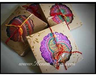 Henna Cookie Favor Boxes