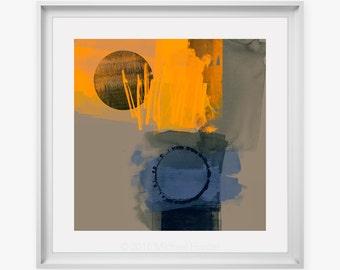 Modern Art Print by Michael Hunter Artist. large size abstract poster prints, contemporary wall art, digital prints, colourful modern art