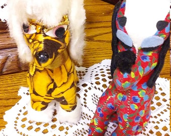 Vintage 1970s Japan Made Stuffed Animals