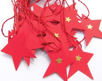 Pendant star of Red souvenir keyrings stars nameplates pendant gifts Geburtstagsdeko Red