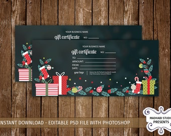 gift certificate template photoshop - multipurpose gift etsy