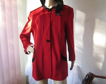 Vintage wool jacket Blazer wool red Hardob jacket S / L