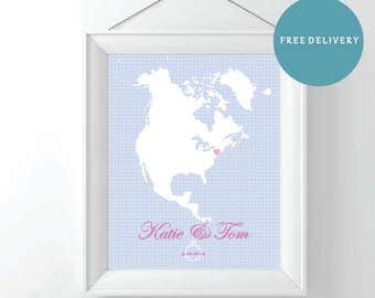 Engagement | Wedding | Anniversary Gift | Where we got engaged/married Print | Frame | Made to Order