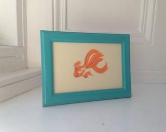 Japanese goldfish painting