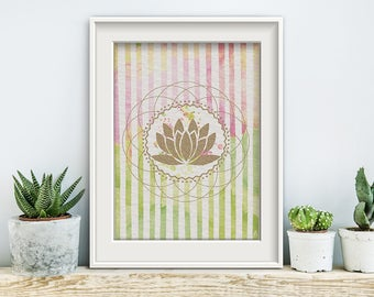 YOGA splash, poster, print, prints, artwork, premium print, wall art, Lotus, spiritual