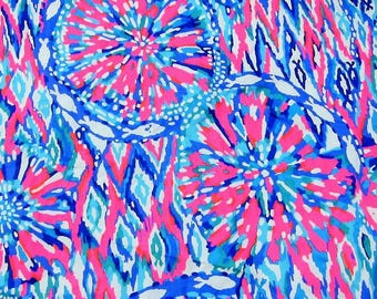 2017 Shake It Up ~ Lilly Pulitzer Cotton Fabric ~ Assorted Sizes