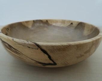 Hornbeam hand turned wooden bowl