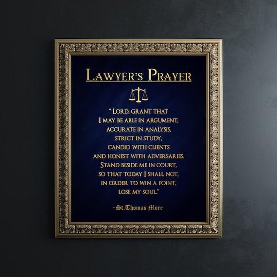 lawyer lawyers gifts prayer thomas gift law student etsy sir gold students print printable graduation foil kaur jagdeep justice associates