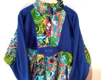 Rucanor 80s Fleece - Blue and Neon
