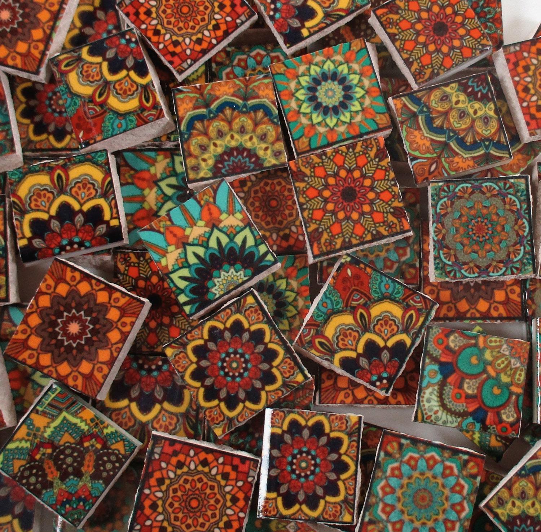 Ceramic Mosaic Tiles Vintage Colors Moroccan Tile Design