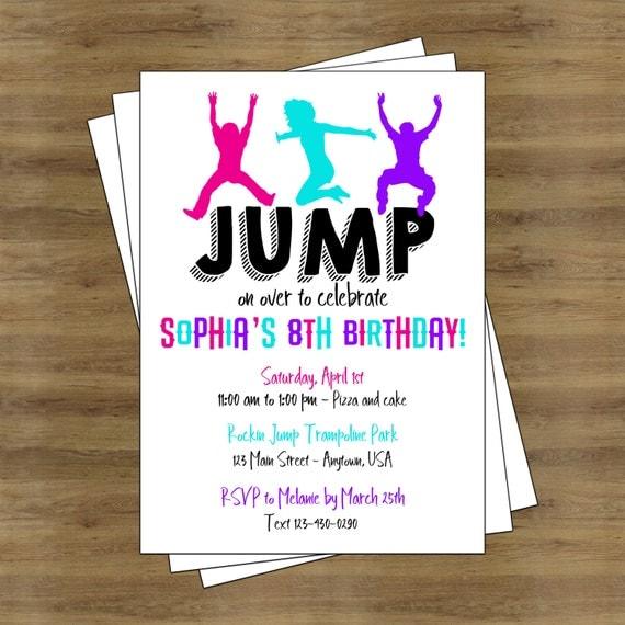 jump party invitation trampoline party invitation trampoline