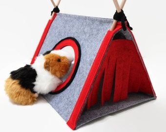 Guinea pig house Hedgehog bed Small pet house Guinea pig hideout Small pet tent