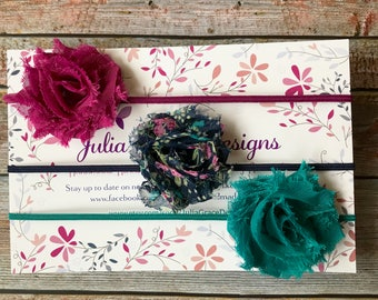 3 MINI Shabby Chic Headbands/Newborn Headbands/Baby Headbands/Baby Headband/Baby Girl Headband/Girl Headband/Infant Headbands/MINI Headbands