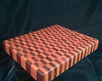 End-Grain Cutting Board (Walnut/Cherry)
