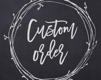 Custom DOUBLE EASEL Chalkboard for Carol