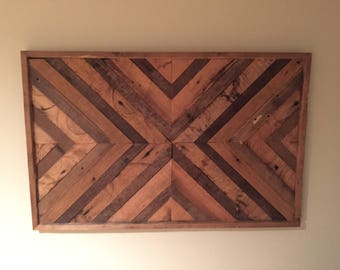 Reclaimed Wood Chevron Art