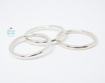 Simple Plain Ring | Sterling Silver Ring | Simple silver Ring | Ring smooth | Stacking Ring | Simple Ring Sterling Silver