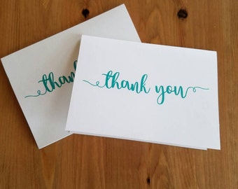 Thank you cards, simple, blank inside, 5 pack, with envelopes