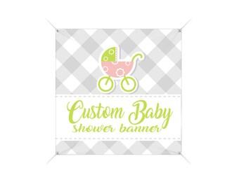 Baby Shower Banner,  Custom Banner, Full Color Banner, Vinyl Banner, Vinyl Sign, Custom Vinyl Banner, Custom Sign, Custom Printed Banner
