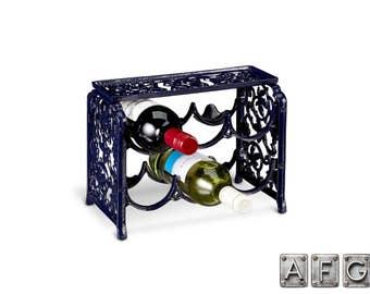 Cast iron 6 bottle wine rack