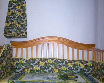 Handmade Toddler/Baby Bedding Using John Deere Fabric