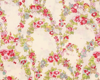 """Hello Kitty Liberty Fabric made in Japan, FQ 45cm by 53cm or 18"""" by 21"""""""