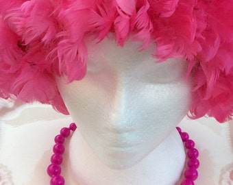 Pretty Pink Addiction-Single Strand Vintage Beaded Necklace