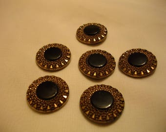 Black glass  victorian era buttons.