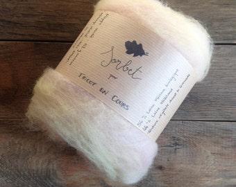 Tablecloth carded Sorbet - Wool Falkland & organic Merino