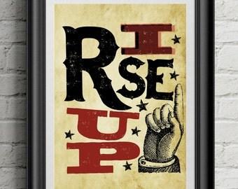 HAMILTON 'Rise Up' | 11x14 Poster Print | Inspired By Broadway Musical Hamilton | Lin-Manuel Miranda