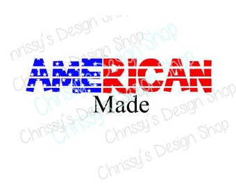 American Flag SVG / made in america svg / american flag cut file / Red white and blue svg / png / dxf / pdf / eps / vinyl crafting / clipart