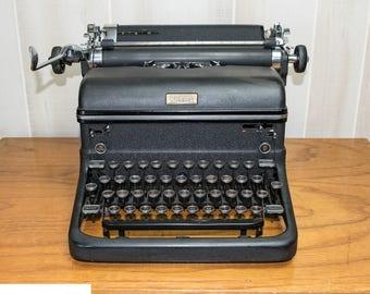 Black Manual Working Typewriter | Retro Royal KMM | Authors/Writers Gift