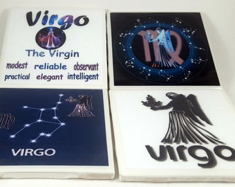 Virgo Zodiac/Tile Coaster/Zodiac Signs/Constellation/Astrology/Horoscope/Virgo Sign/Virgo Astrology/Virgo Horoscope/Astrology Signs/Virgo