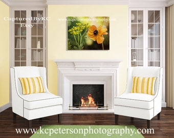 Yellow Poppy Number 1.....FREE SHIPPING!
