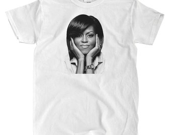 Michelle Obama - White T-shirt