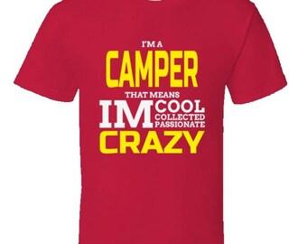 Funny camping t shirt,Camping Shirt, Camping Tshirt,Camping Gift,Camping Gear,Camping Life,bbq t shirt,campfire camping,Cool Crazy Camper